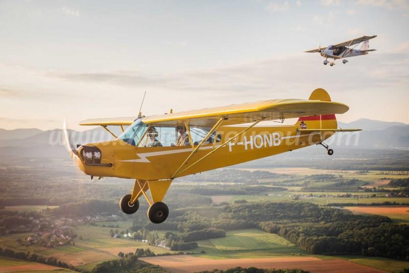 Piper J3Cub et Skyranger Nynja