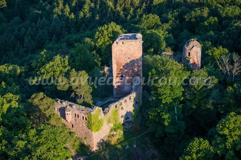France, Bas-Rhin (67), Château de Landsberg (vue aérienne)//France, Bas Rhin, Landsberg castle (aerial view)