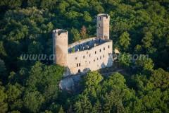 France, Bas-Rhin (67), Barr, château du Haut-Andlau (vue aérienne)//France, Bas Rhin, Barr, Haut Andlau Castle (aerial view)